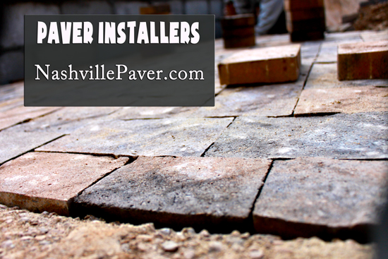 Nashville Paver Installer - Image of pavers being installed in Franklin Tn